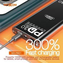 MOXOM 10000mAh Power Bank External Battery For iPhone Samsun