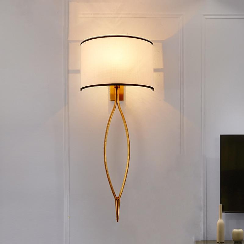 Led Wall Lamp Cloth Shade