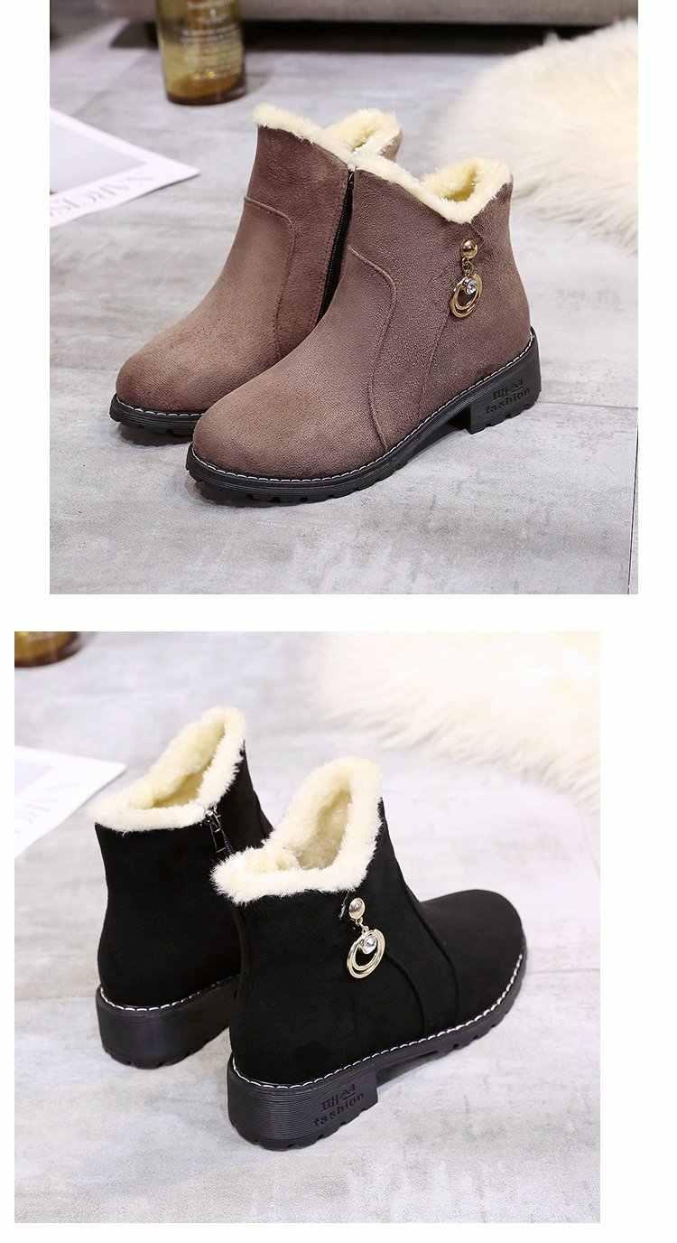 Boot Nữ 2018 Mùa Thu Đông Mới Hàn Quốc Dày Dặn Nền Tảng Giày Bốt Nữ Hoang Dã Cao-TOP Giày phụ Nữ Plus Nhung