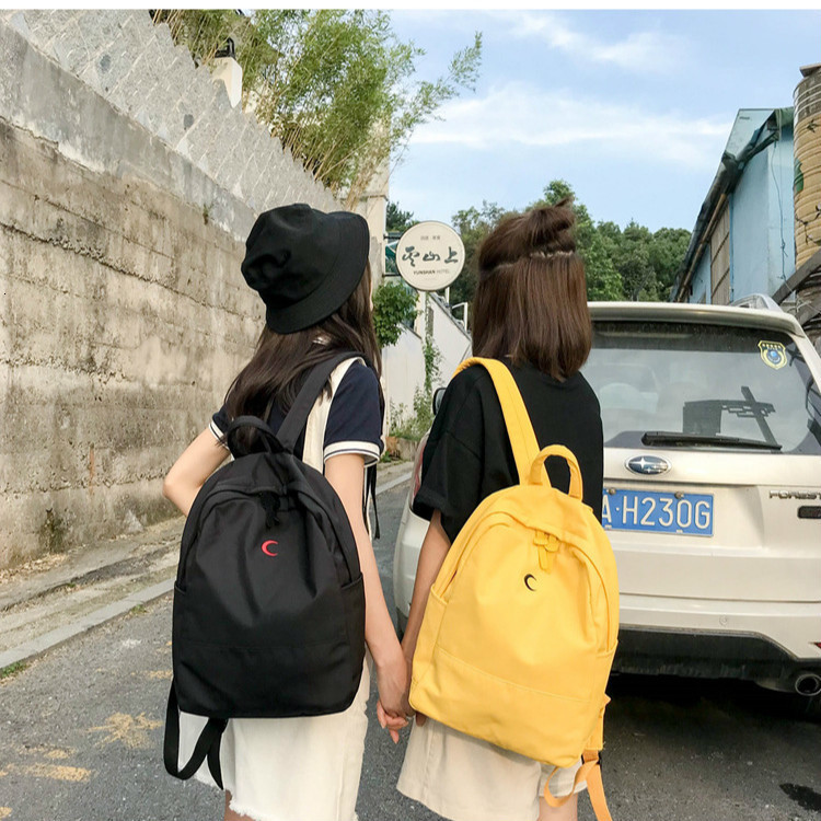 Women Casual Backpack Sweet Printing Moon Girls School Bags Moon Wood Candy Color Canvas Laptop Bagpack Mochilas Mujer 2019