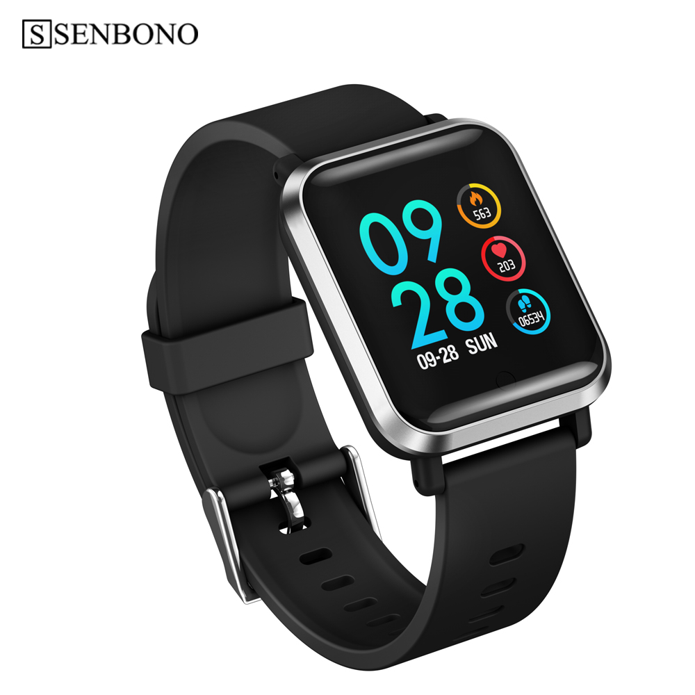 SENBONO Smart Watch Men Sport IP68 Full Screen Touch Bracelet Fitness Tracker Heart Rate Monitor Women Clock for Android IOS