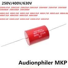 Audiophiler Mkp condensador MKP 250V MKP 400V MKP 630V 10UF/400V 0,1 UF 0,22 UF 0,33 UF 6,8 UF 7,5 UF 8,2 UF