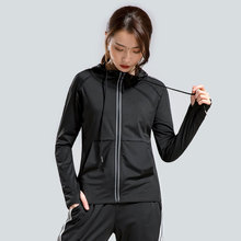 Autumn and winter sports jacket zipper long sleeve ladies fitness running top breathable fashion