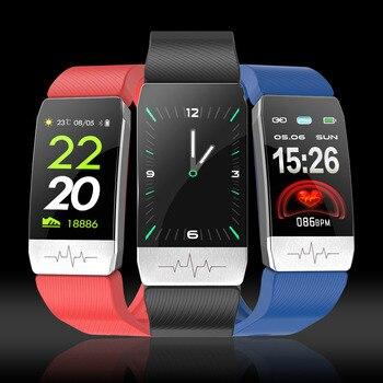 2020 intelligent Bracelet temperature, heart rate and blood pressure monitoring waterproof watch Straight smart Watch