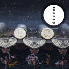 1m Modern Rain Chain Decorative Petal Shape Rain Catcher for Downspout