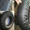 Крышка клапана для запасных колес из полиуретана и ПВХ, аксессуары для автомобильных колес, чистый черный 14/13 дюймов, высокое качество