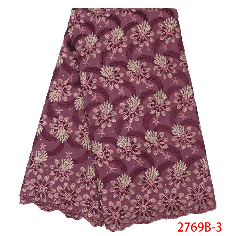 High Quality Swiss Voile Lace In Switzerland,African Dry Cotton Lace Fabric,2019 Nigerian Embroidered Fabric Lace KS2769B-3