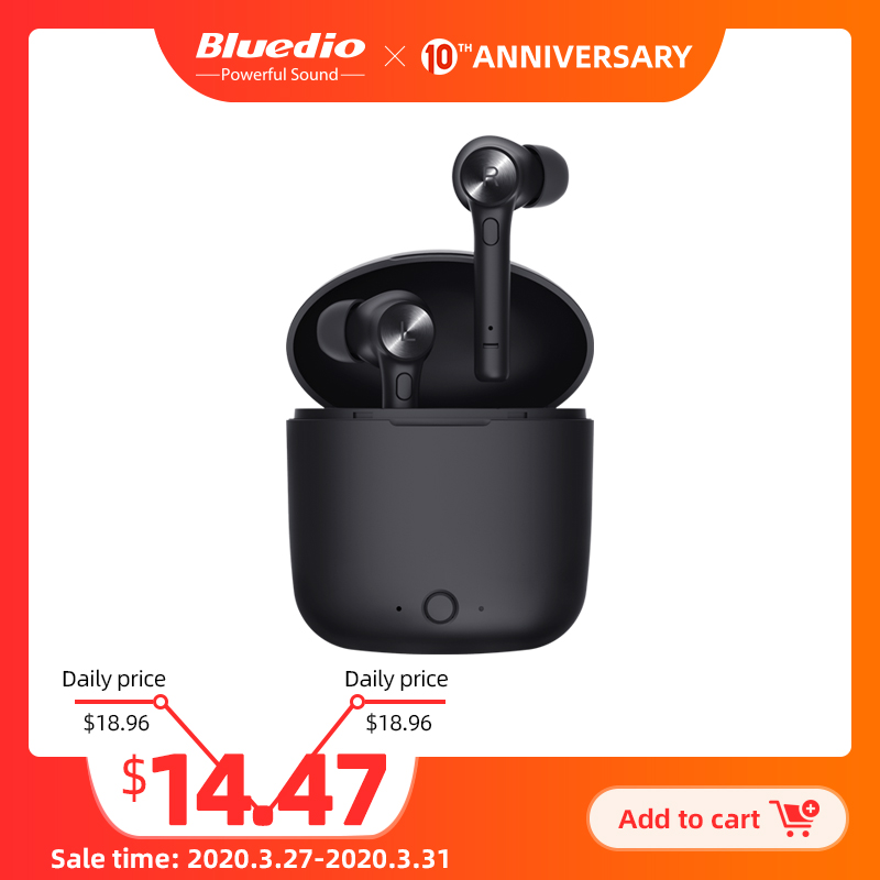 Bluedio Hi wireless earbuds bluetooth 5.0 headset hifi sound auto play pause sport headphone with charging box built in mic|Phone Earphones & Headphones| |  - AliExpress