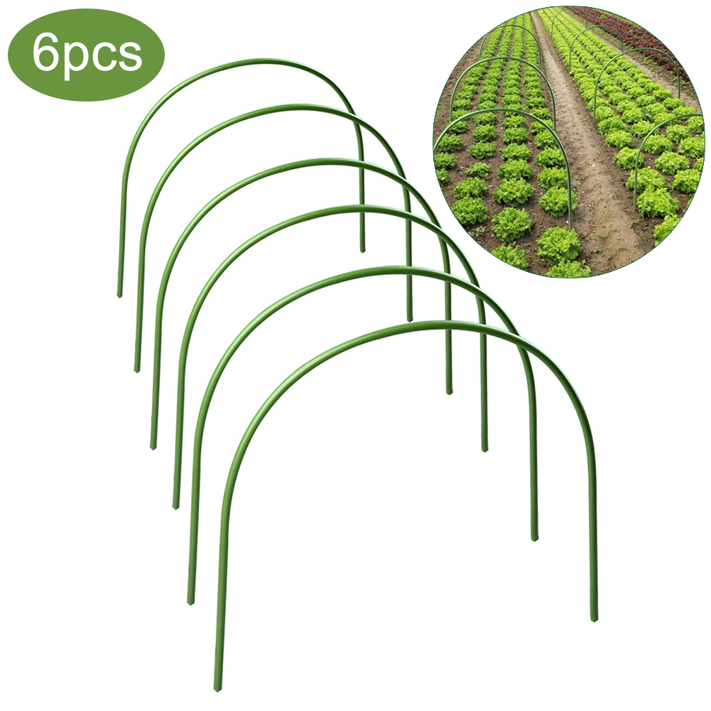 6 Pcs Greenhouse Plant Hoop Grow Garden Tunnel Hoop Support Hoops For Garden Stakes 40 X 50cm