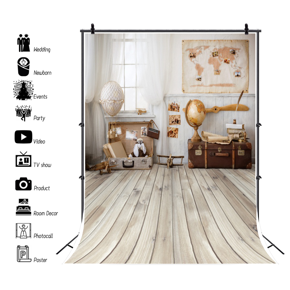 Birthday Backdrops For Photography Pirate Ship Deck World Map Party Baby Child Portrait Photo Backgrounds Photocall Photo Studio  - buy with discount