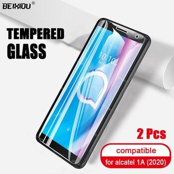Перейти на Алиэкспресс и купить 2 шт. закаленное стекло для Alcatel 1A 1B 1V 1S 3L 2020 Защитное стекло для экрана для Alcatel 1A 1B 1V 1S 3L 2020 защитное стекло