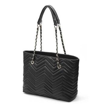 2020 Sheepskin Handbag Europe and America Fashion WOMEN'S Leather Bags Edge Pattern Women's Handbag