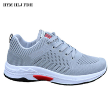 HYM HLJ FDH 2019 Mens Summer New flying Woven Sneakers Casual Shoes Hollow Board Mesh Trend