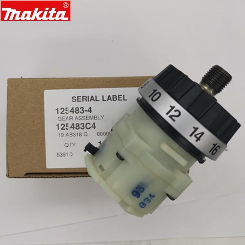 MAKITA 125483-4 1254834 Reducer Gearbox Gear Assembly For 6391D DDF453 DDF45RFE BDF443 BDF453 6391D DF457D DF457DWE