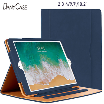 iPad 9.7 Case Flip Cover For iPad Air 1 Air 2 2017 2018 For iPad 2 3 4 For iPad 7th Gen 10.2 Tablet Shell Stand Protection for ipad 2 ipad 3 ipad 4 case pu leather tablet cover full protection 9 7 inch drop resistance dog pattern shell