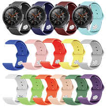 20mm 22mm Colorful Silicone Watchband for Samsung Galaxy Watch Active 42mm 46mm Gear S2 S3 Strap Band for Amazfit Bip Bracelet(China)