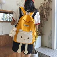 Cute School Backpacks Women Waterproof Backpack for Teenage Girl Nylon Lovely Cartoon Daily Travel Softback Mochila Escolar