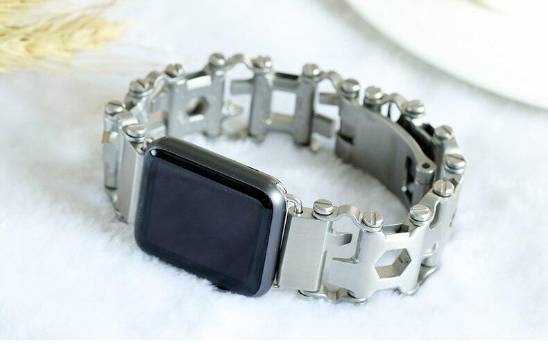 escovado design exclusivo pulseiras iwatch Myl-52bd