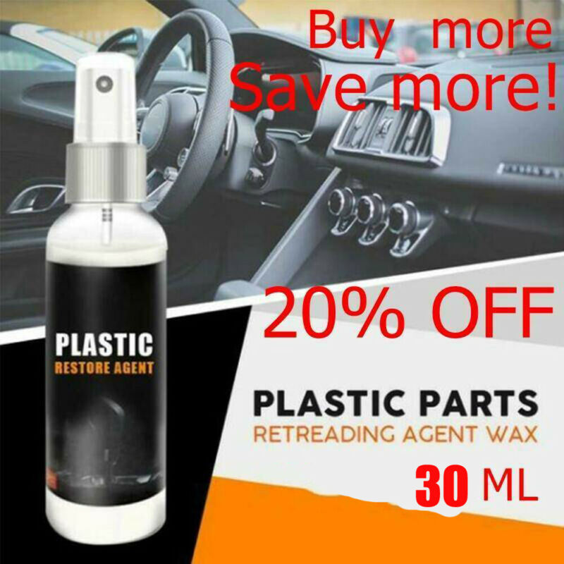 30ML Plastic Part Retreading Restore Agent Wax Instrument Panel Reducing For Car