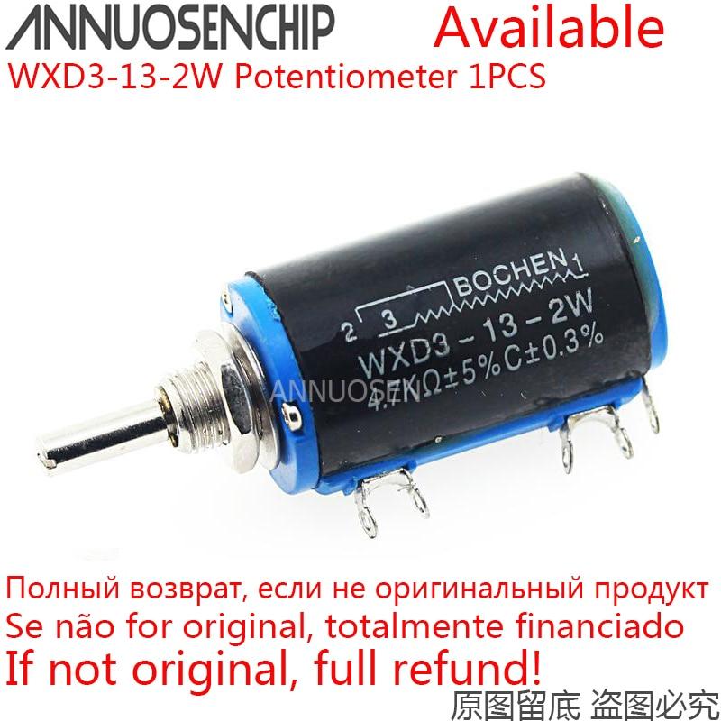 WXD3-13-2W resistência 100r 470r do potenciômetro de wirewound 1k 4.7k 6.8k 10k 22k 47k 100k ohm potenciômetro rotativo linear wxd3 13 2w