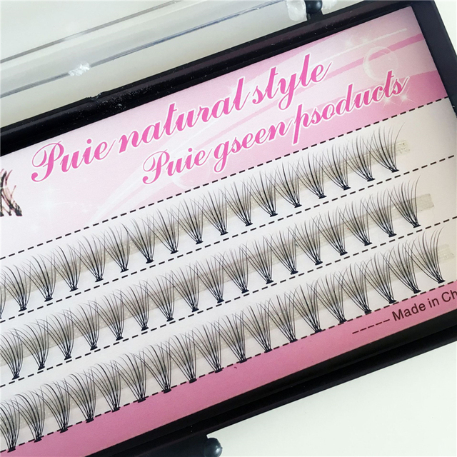1 Case False Eyelashes Natural Fake False Long Curl Synthetic Hair Eye Lashes Professional Beauty Makeup Grafted eyelashes 1