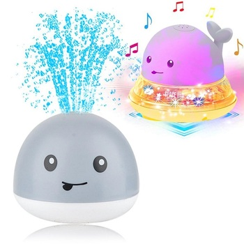Kids Funny Infant Bath Toys Baby Electric Induction Sprinkler Ball with Light Music Children Water Spray Play Ball Bathing Toys baby bath toy cute cartoon light music sprinkler water splash ball kids baby bath pool toy led light funny toy