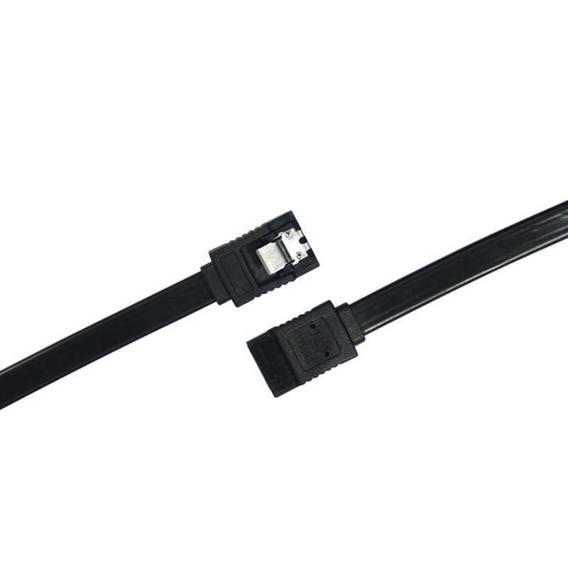 Cabo sata 3.0 de sinal de 0.6 3.0 gb, adaptador de disco rígido ssd, cabo de sinal de hdd 45cm preto, 1 peça cabo de dados sata de alta velocidade reta