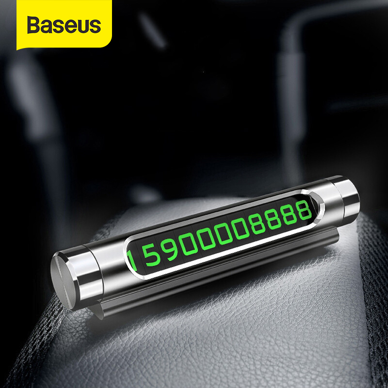 Baseus Temporary Car Parking Card Phone Number Card Plate Telephone Number Car Park Stop In Car-styling Automobile Accessories