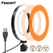 Photographic Lighting 16cm/26cm Ring Lamp LED Dimmable Ring Light 3200K 5600K  For YouTube Videos Makeup Tik Tok Selfie Light