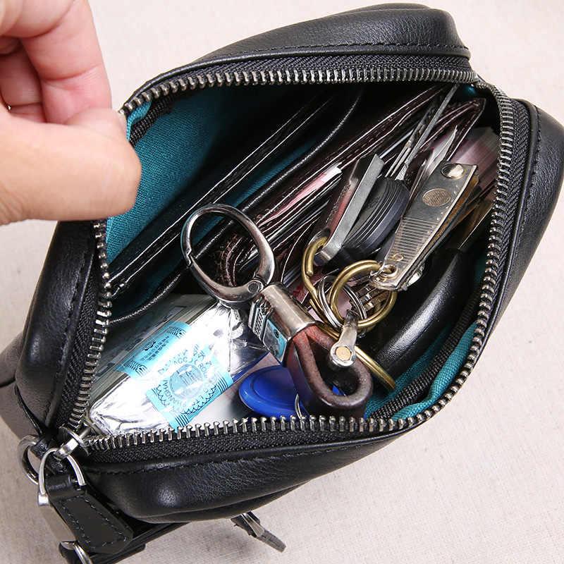 AETOO männer leder handtasche, männer lange brieftasche, trend kopf leder weichen leder große-kapazität handy tasche