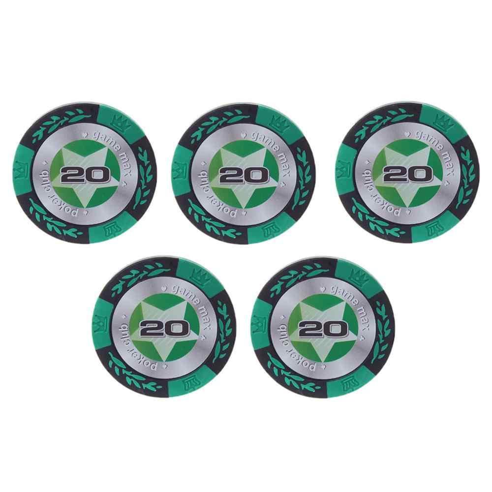 5pcs Argila Fichas De Pôquer Pokerstars Casino Baccarat Texas Hold'em Moedas Moeda Coroa