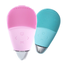 Face Cleansing Brush Electric Waterproof Sonic Massage Silicone Ultrasonic Facial Cleaner Skin Care Tool Beauty Spa Machine ultrasonic face care brush eletrical facial cleansing massage tool machine facial brush clari pore sonic cleanser