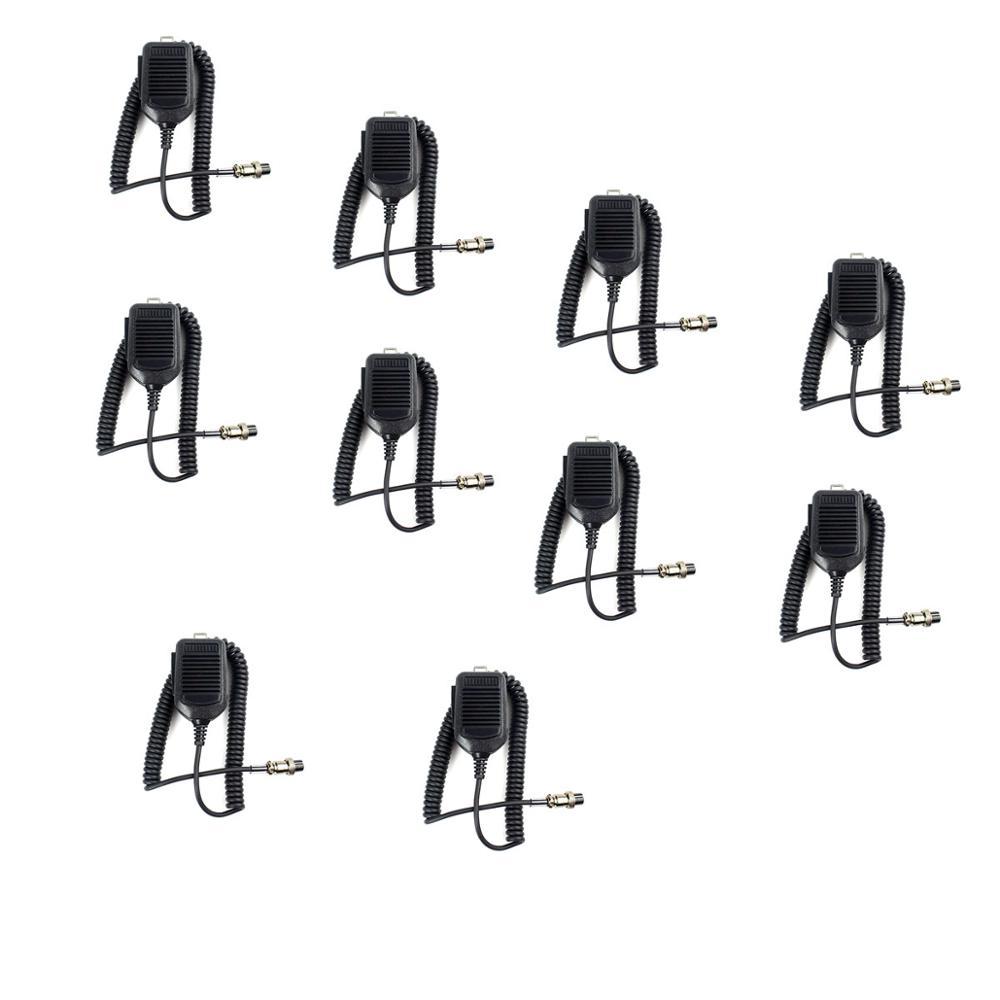 10pcs Speaker Microphone MIC 8Pin For ICOM HM36 HM-36  IC-718 IC-775 IC-7200 New Black J6211A