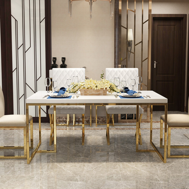 Light Luxury Dining Table and Chair Set  3