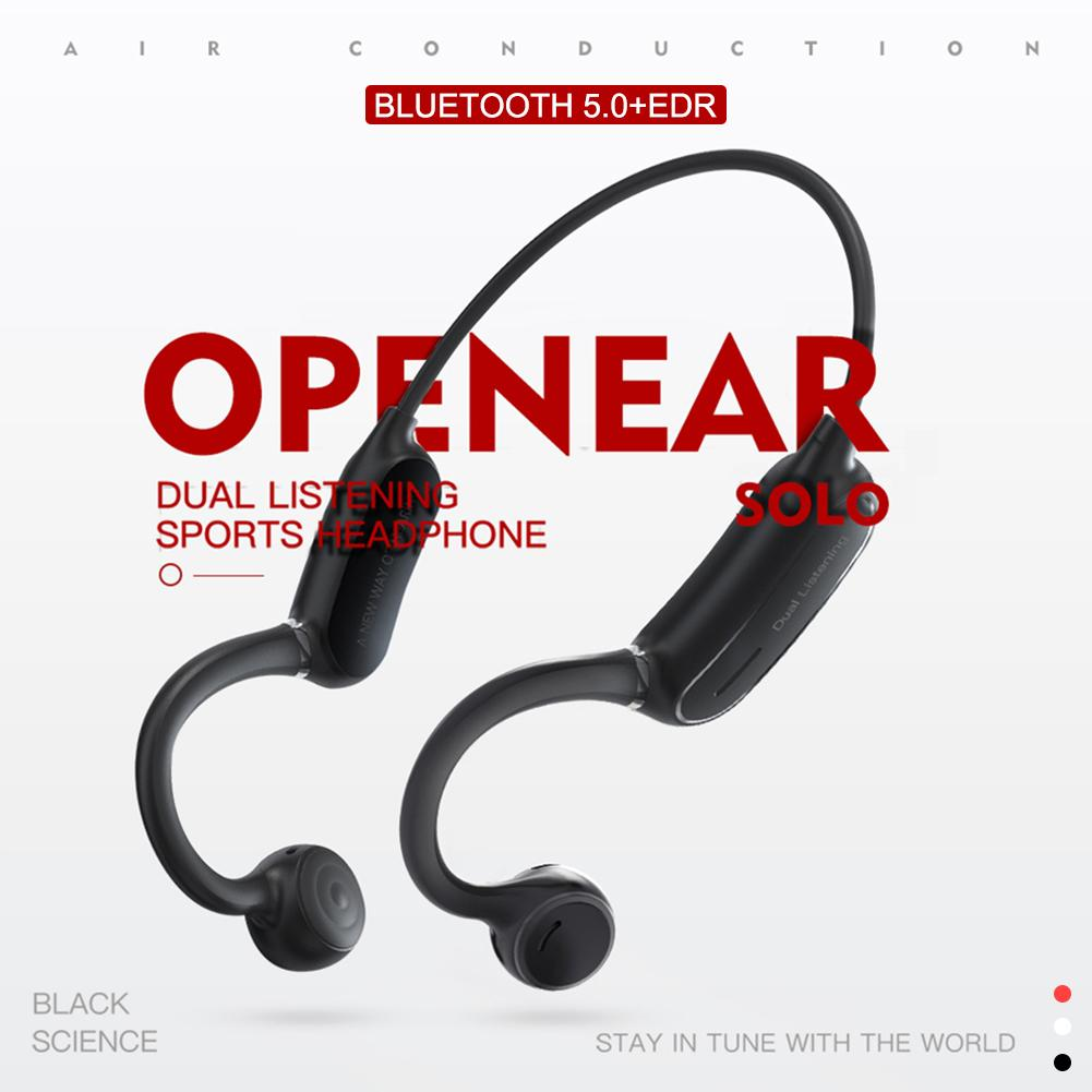 Newest Wireless Bone Conduction Headphones Bluetooth 5.0 Binaural Stereo Bone Headset Waterproof Sports OPEN EAR Solo With Mic