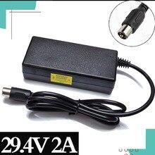 29.4V 2 3acharger עבור 24V 25.2V 25.9V 29.4V 7S ליתיום סוללות 29.4V מטען e אופני מטען RCA Steckverbinder + גבוהה qualit