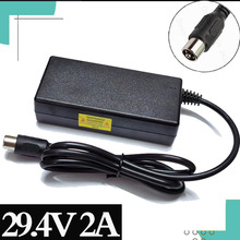 29.4V 2Acharger pour 24V 25.2V 25.9V 29.4V 7S batterie lithium pack 29.4V chargeur e bike chargeur RCA Steckverbinder + haute qualité