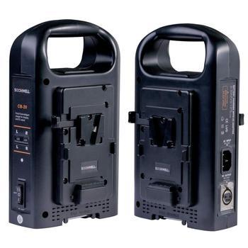 SOONWELL cargador de 2 canales Sony V fuente de alimentación de bloqueo V cargador de batería de iones de litio de montaje para videocámara