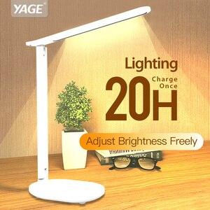Image 1 - Kademesiz kısılabilir masa okuma lambası katlanabilir dönebilen dokunmatik anahtarı LED masa lambası USB şarj aleti şarj edilebilir pil gece lambası