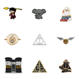HP Magic School Pins Badge All Here значки Shirt Lapel Backpack Brooch Accessory Large Creative Enamel Pin Jewelry Gift