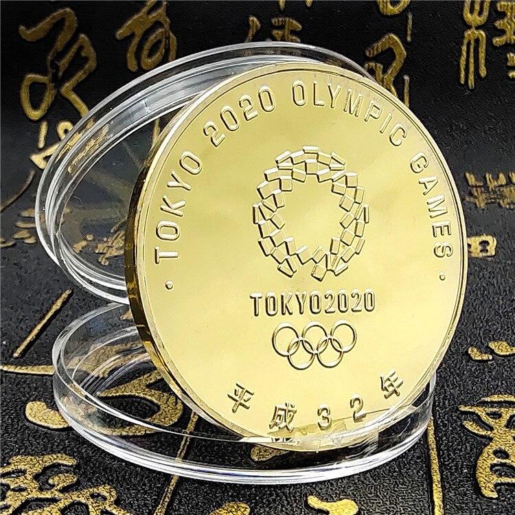Япония 2020 Олимпийские игры Серебряная позолоченная монета СУВЕНИР Памятные монеты подарок Tokoy с коробкой Вызов Монета