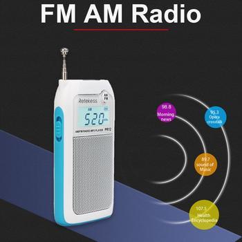 Мини-радиоприемник RETEKESS PR12 AM/FM MP3/TF-Card 2