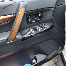 Yimaautotrims Inner Door Armrest Window Lift Button Cover Trim Fit For Mitsubishi Pajero V97 V93 V80 Montero Limited 2009 - 2020