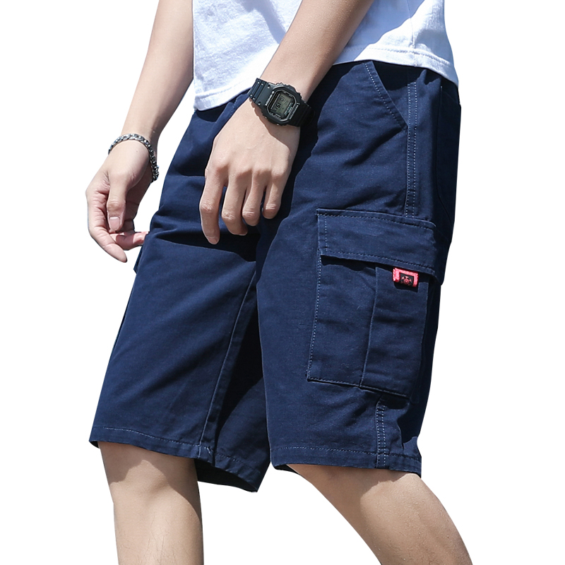 Vintage Men Casual Shorts Summer With Pockets Cargo Shorts Hipster Fashion Cotton Streetwear Roupas Vanquish Fitness XX60MS