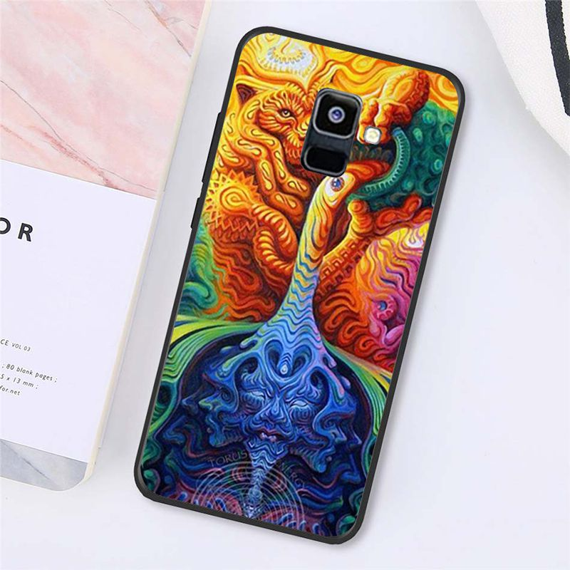 Colourful Psychedelic Trippy Art Phone Case For Samsung Galaxy A7 A50 A70 A40 A20 A30 A8 A6 A8 Plus A9 A71 A51