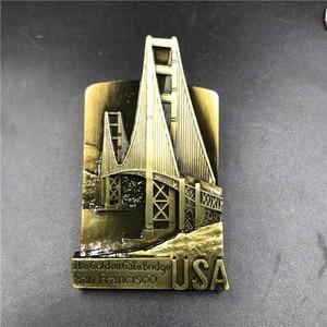 Image 2 - USA Golden Gate Bridge Berlin Schweiz Singapur Australien Sydney Italien Roma Paris Las Vegas China Karte Kühlschrank Magnet Souvenir