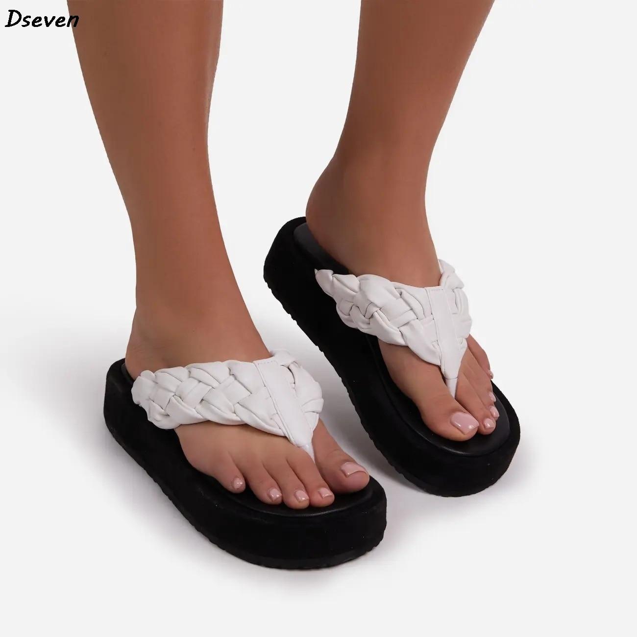 Nova mulher chinelos de couro macio tecido