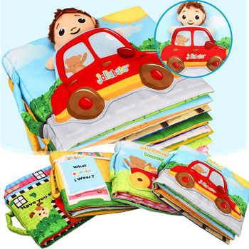 Baby My First Soft Cloth Books Cartoon Car Educational Early Develop Reading Story Doll Activity Book Rattle Toy Kid Quite Books oxford first atlas activity book