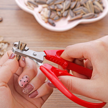 Nakrętka ze stali nierdzewnej Shell Cracker Seed pistacjowy otwieracz do skorupek szczypce ściągające tanie i dobre opinie CN (pochodzenie) Nut Peeling Home Tool Ekologiczne Na stanie STAINLESS STEEL