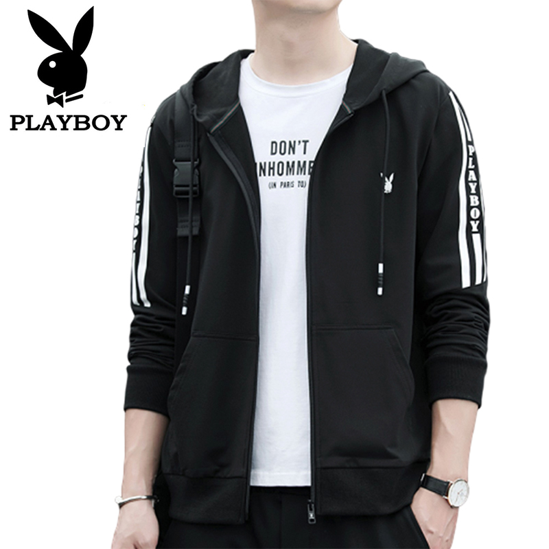 Playboy Spring And Autumn Season Fashion Trendy Men's Slim Loose Hooded Sweater Baseball Jacket Jacket Clothes